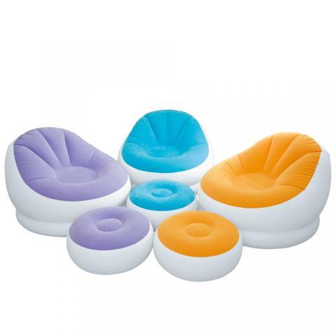 Φουσκωτή πολυθρόνα με υποπόδιο