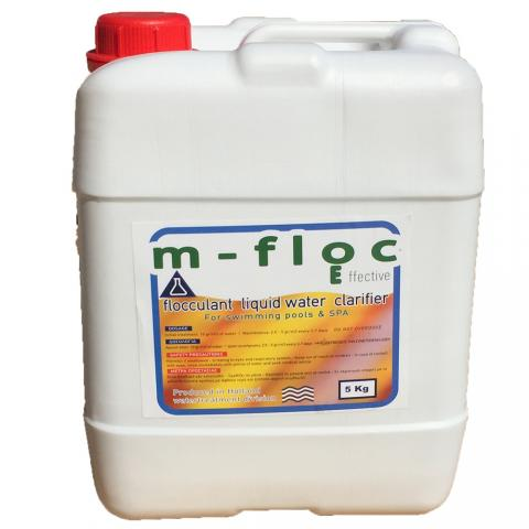 Flocculant liquid water cleaner
